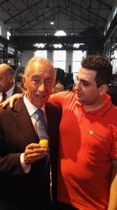 Albino Silva com o Presidente da República